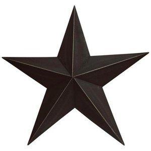 "Farmhouse Black 18"" Barn Star"